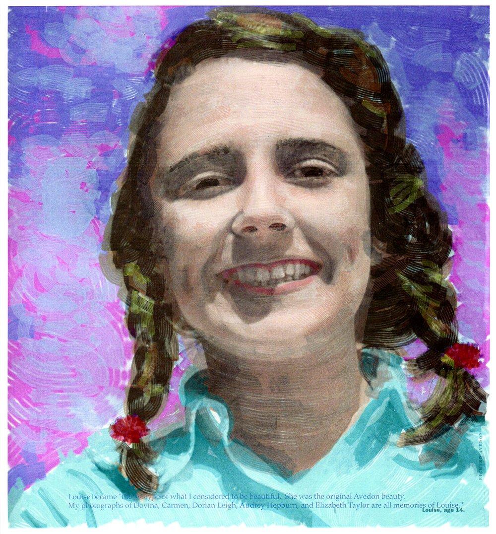 """Portrait of Louise"" digital painting"
