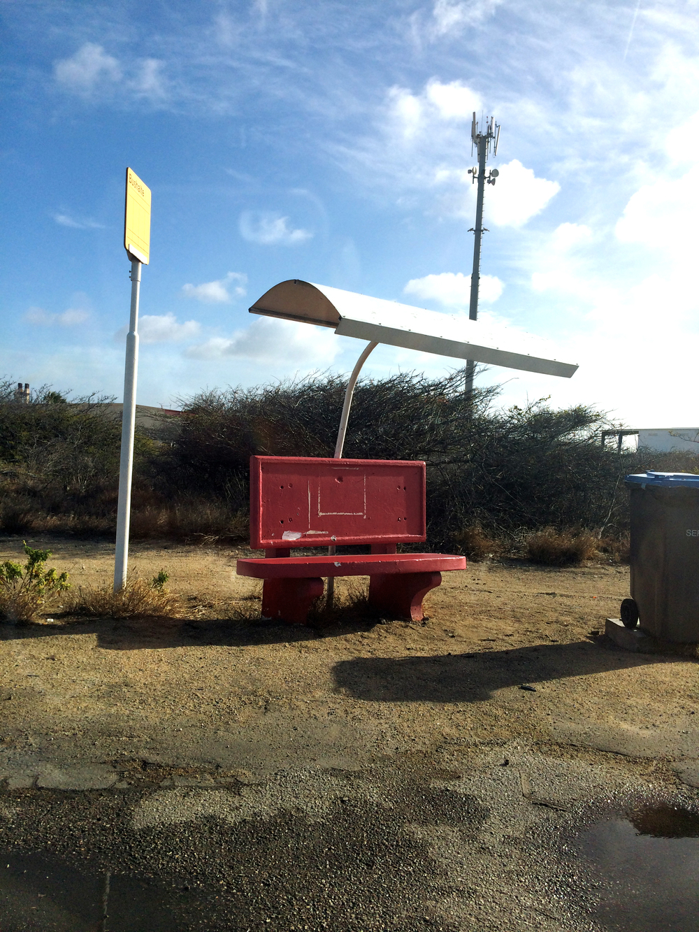 Simple bus stop in Aruba