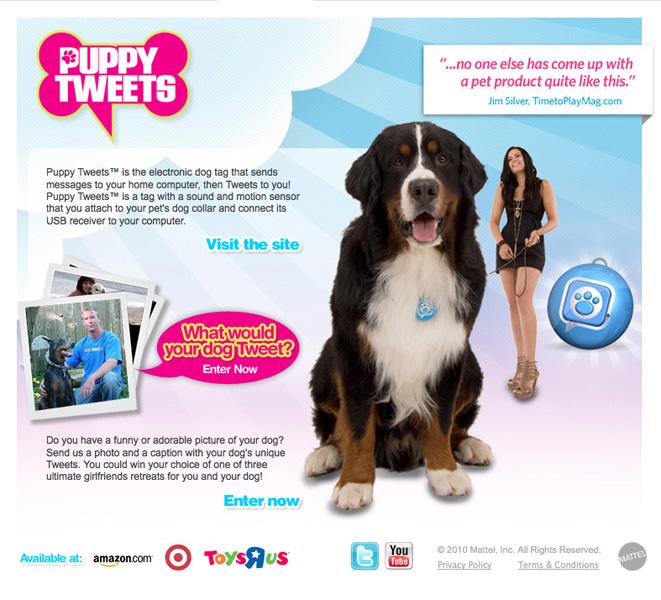 Mattel Puppy Tweets