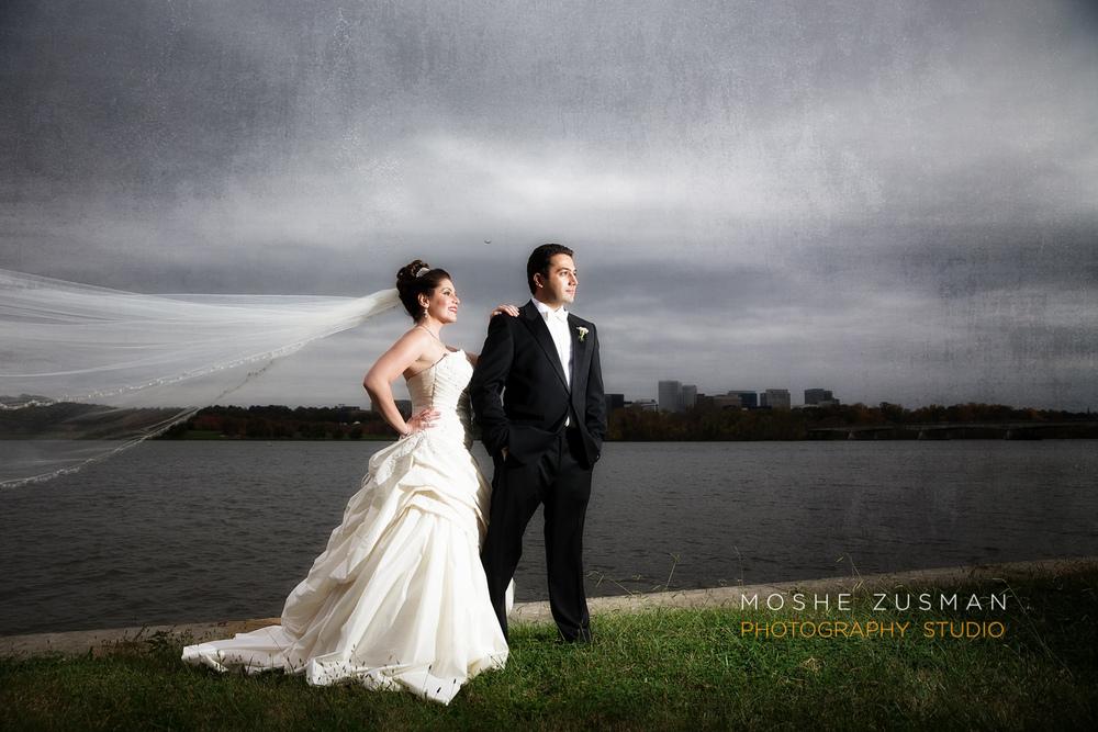 Sandy Storm Wedding Portrait