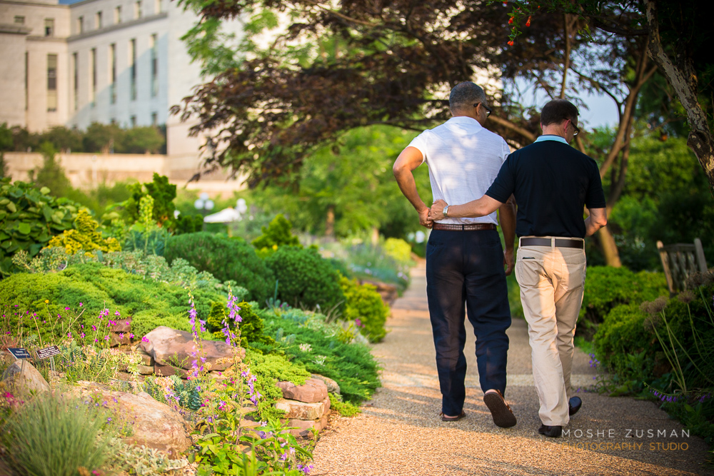 Steven And Daryle Botanical Gardens DC MOSHE ZUSMAN PHOTOGRAPHY