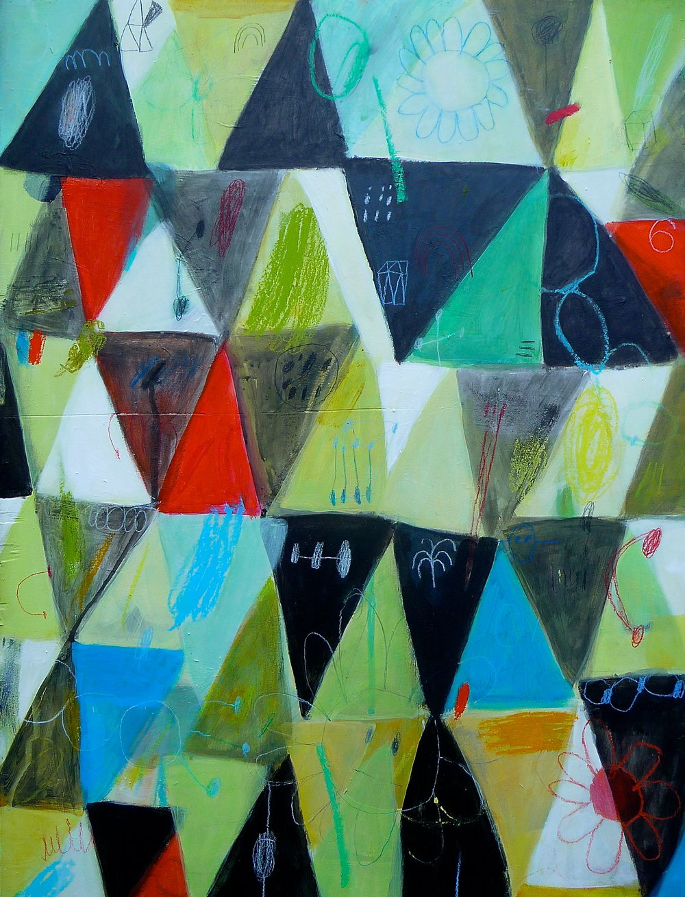 Triangular Analytics  23 x 18  $850