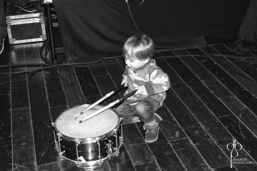 James practicing