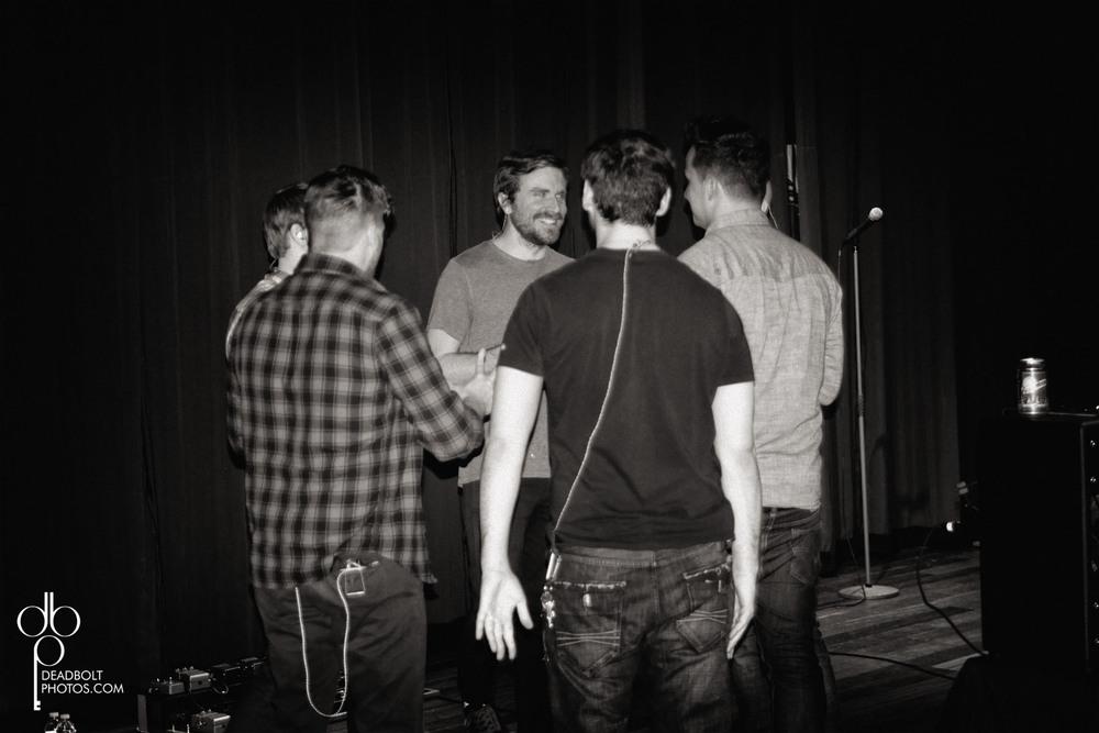 Band huddle