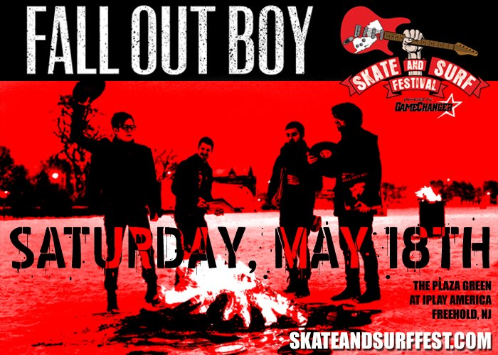 Fall Out Boy Headlining Skate and Surf.