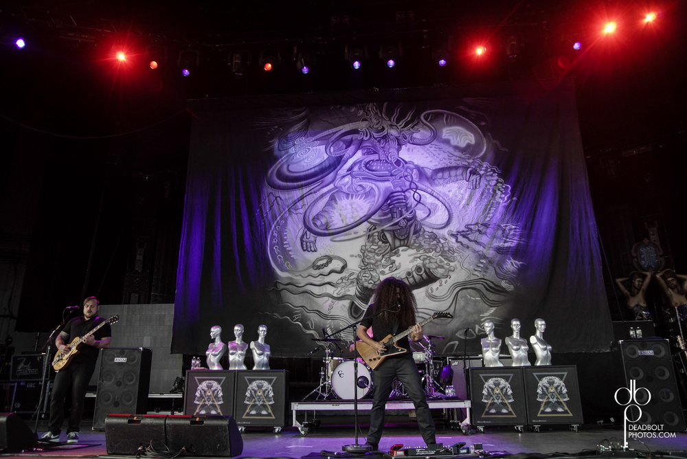 Coheed and Cambria rocks the stage at PNC Bank Arts  Center as part of Uproar Festival