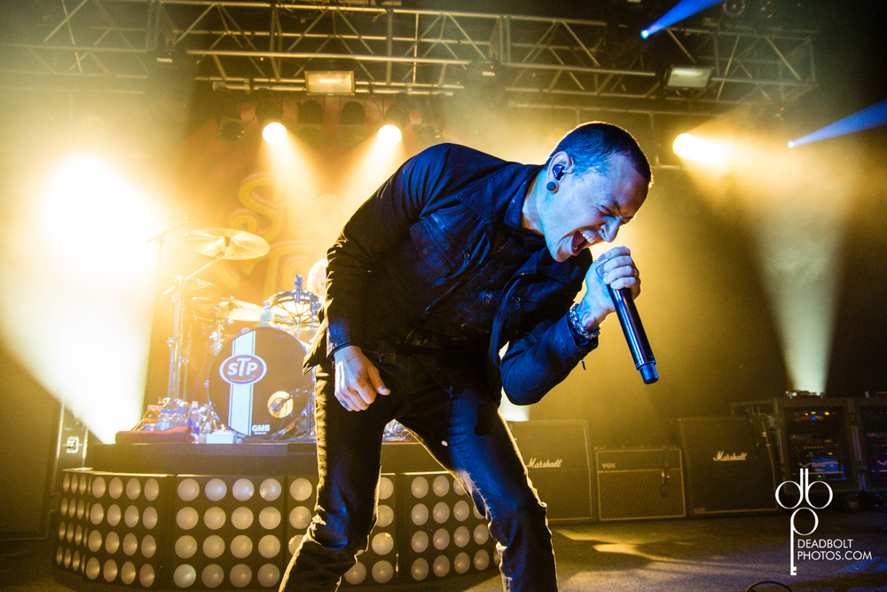 Chester Bennington on the road with Stone Temple Pilots