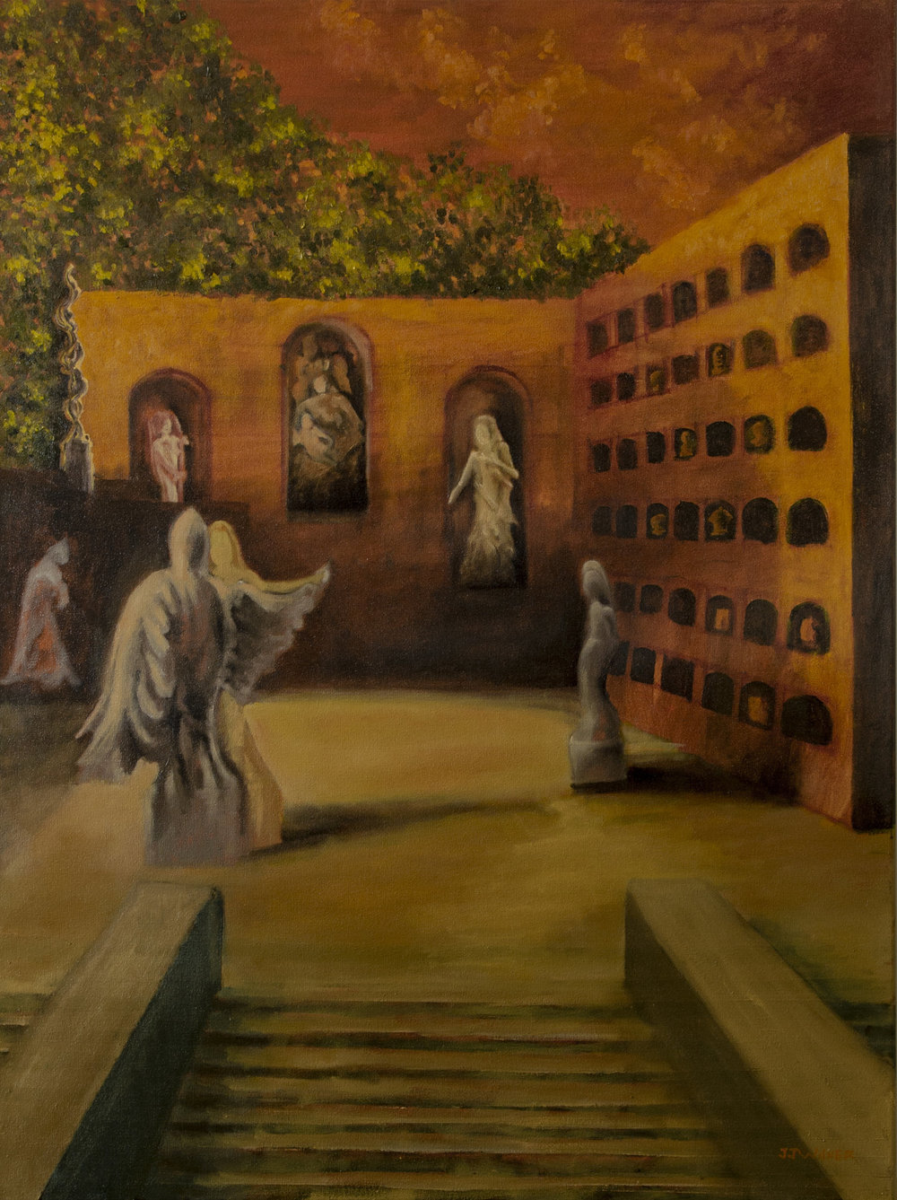 """Copy of """"Angels of Stone"""", Oil Painting, 30"""" x 40"""""""