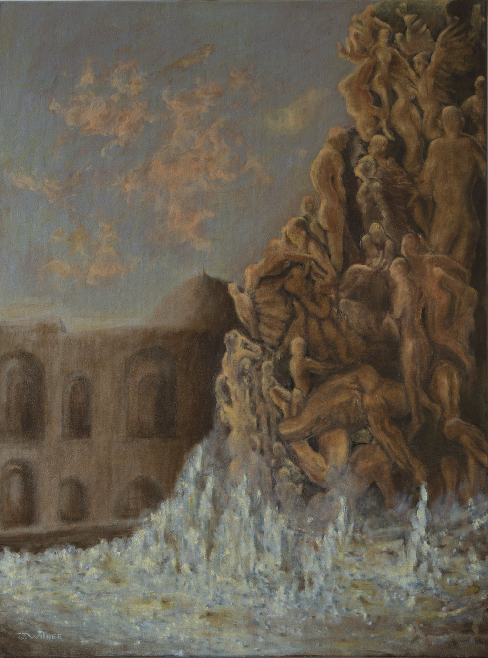 """Copy of  """"Trevi Nightmare"""", Oil Painting, 30"""" x 40"""""""