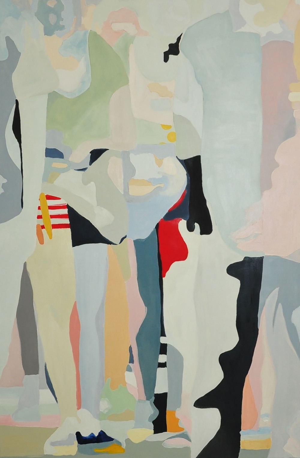 "Pedestrians Crossing 2, 2015, 48x72"" oil on canvas"