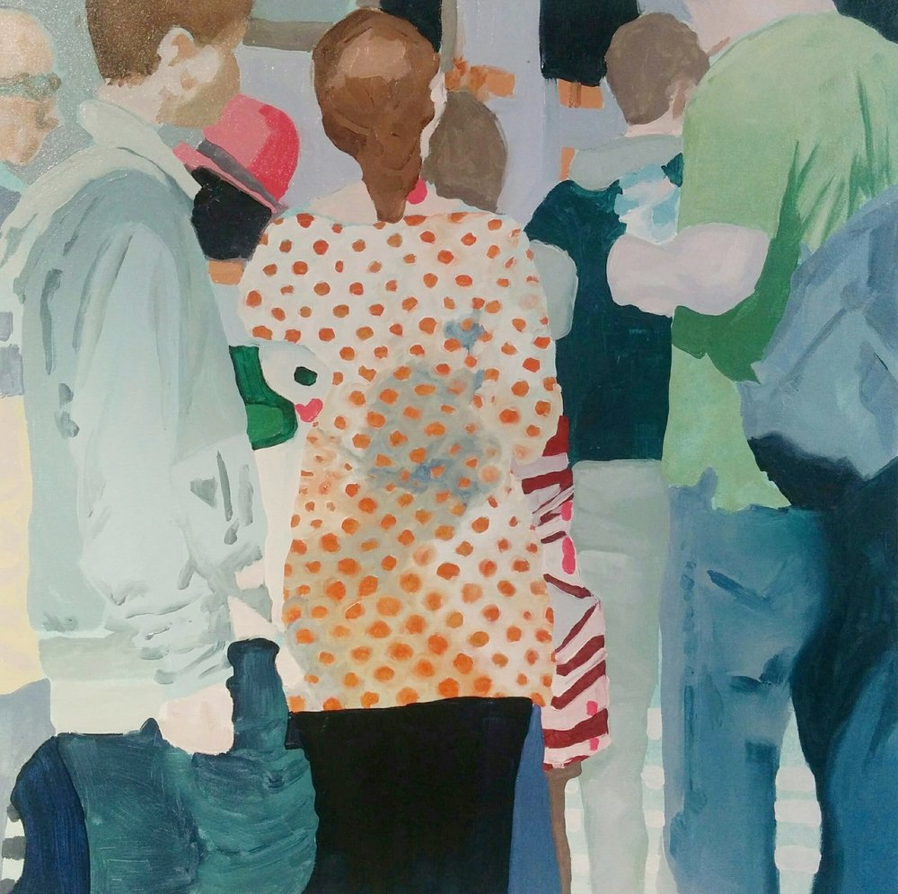 "Wellington Street Study #2, 2016, oil on canvas, 24x24"""