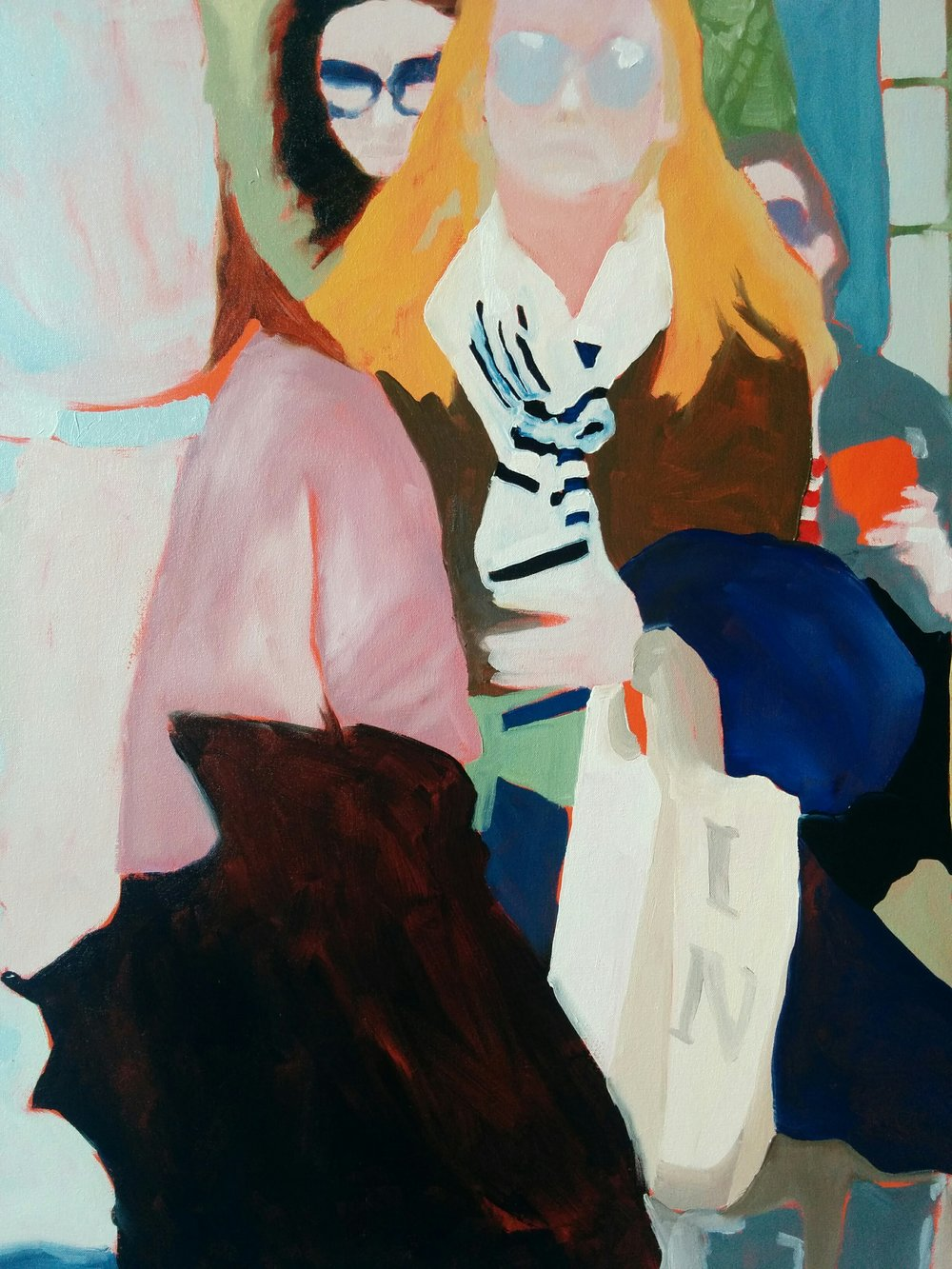 "Wellington Street Study #1, 2016, oil on canvas, 30x30"" (detail)"