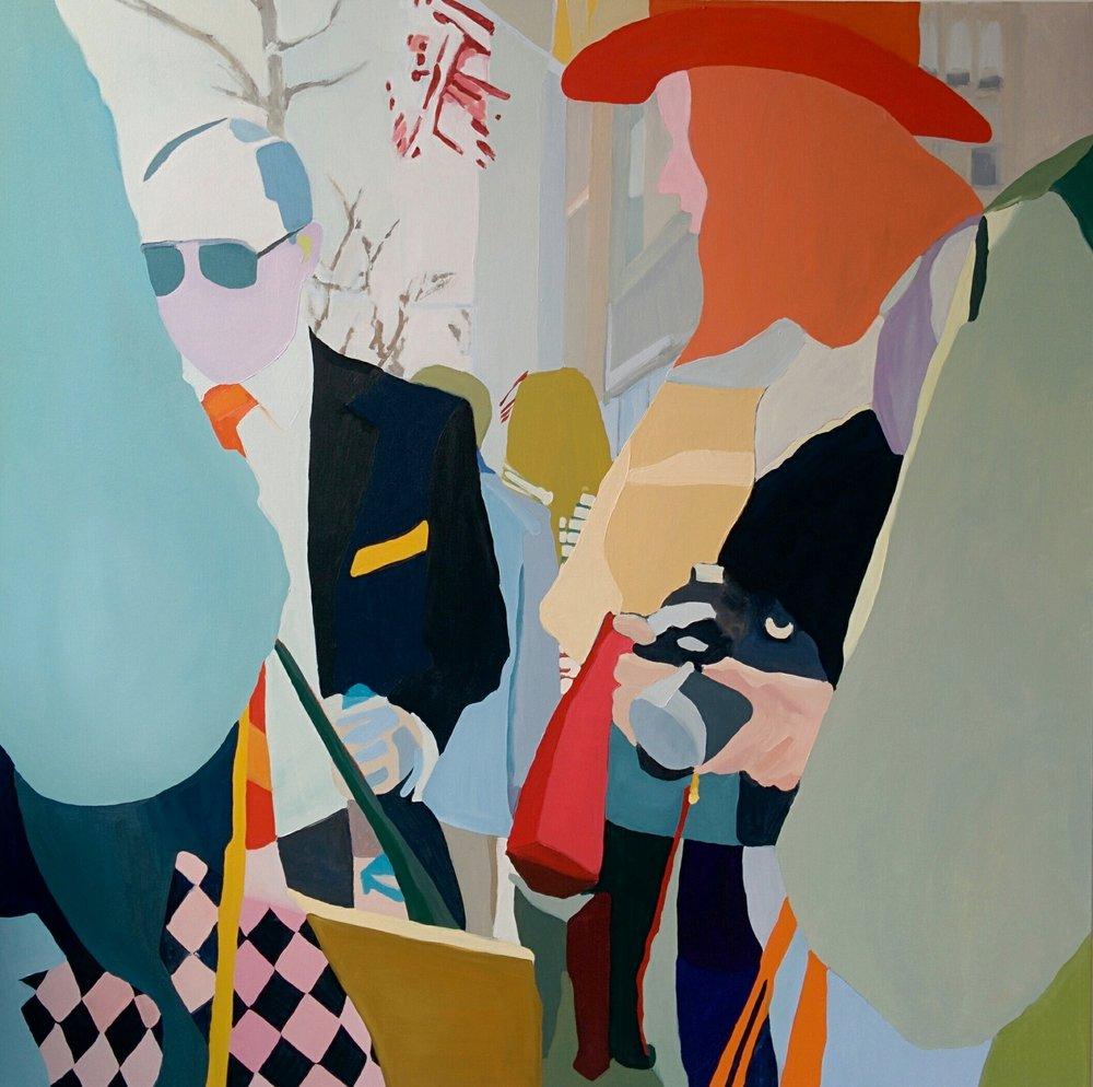 """Lexington Ave, 2016, oil on canvas, 60x60"""""""