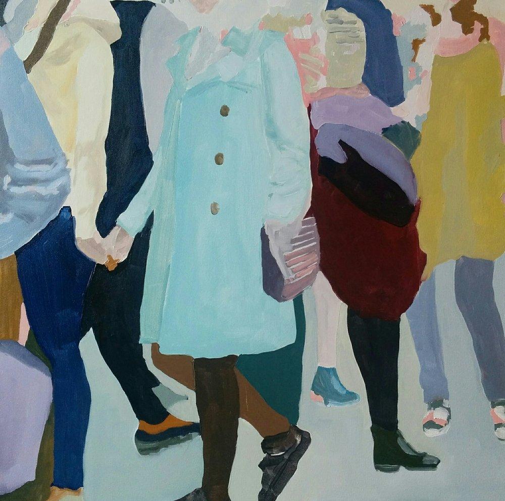 "Wellington Street Study #3, 2016, oil on canvas, 30x30"""