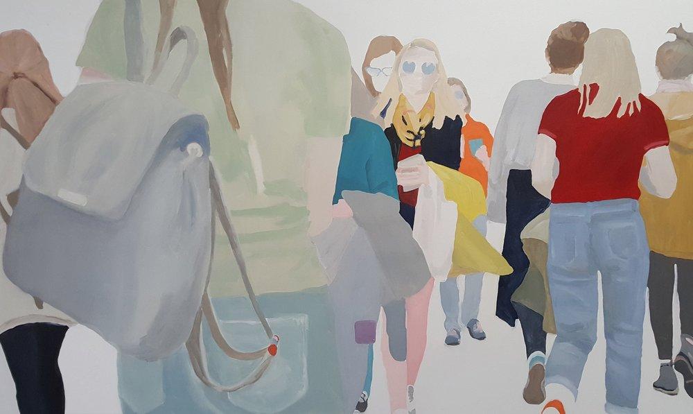 "Walk Signal, 2017, oil on canvas, 60x36"""