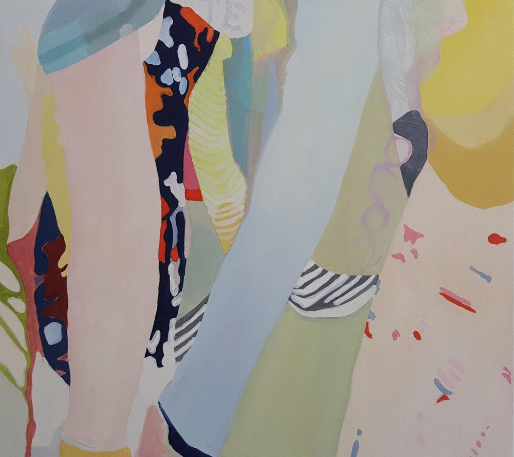 "Swish Brush Swoop, 2017, oil on canvas, 45x40"""