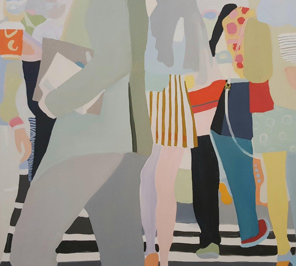 "Slip swing, 2017, 45x40"", oil on canvas"