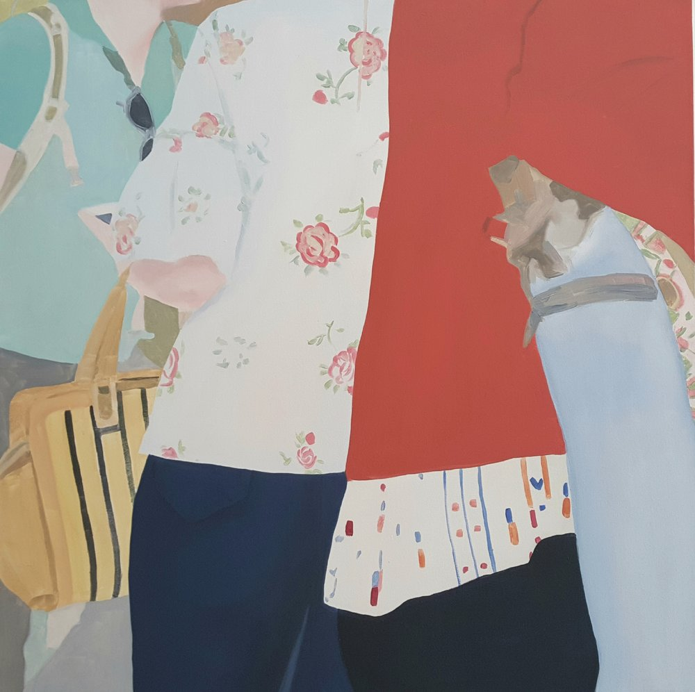 "Floral Silk, 2018, oil on canvas, 40x40"""