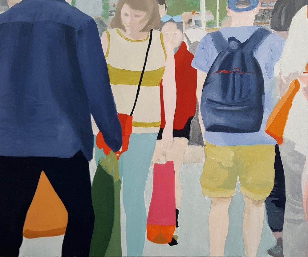 "Bystanders II, 2018, oil on canvas, 36x30"""