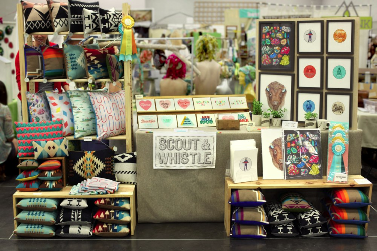 Scout & Whistle booth at the Crafty Wonderland Colossal Spring Sale 2013