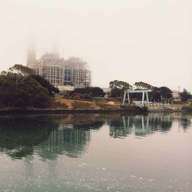 Power plant in the fog at Moss Landing #energy #vscocam