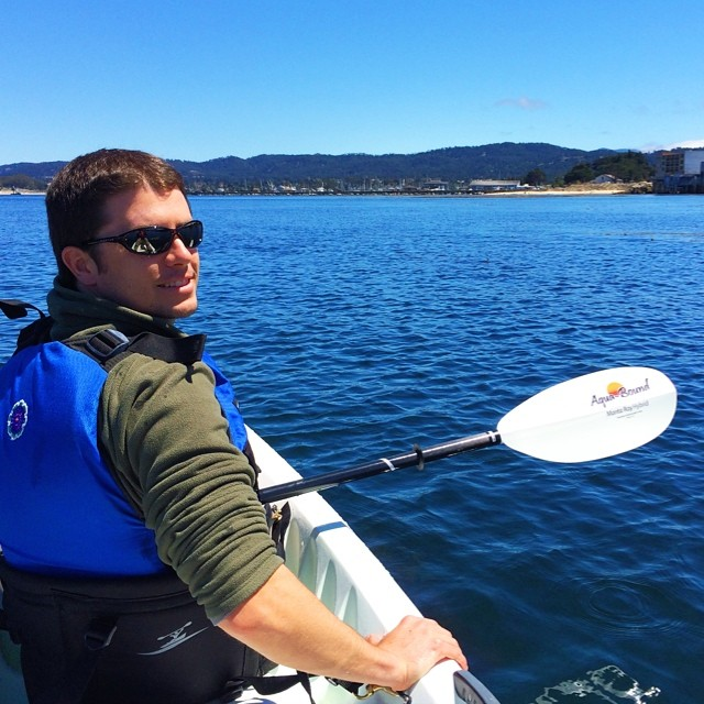 Tristan out on his kayak on this epic day in #monterey #ocean #latergram #vscocam