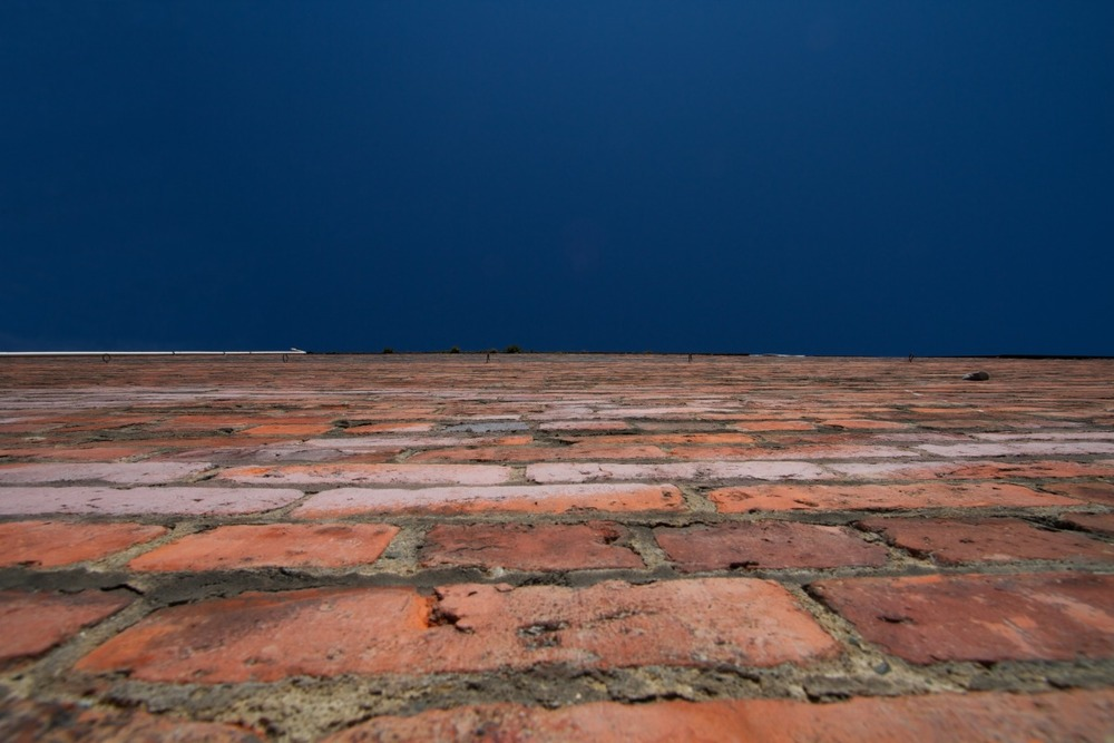 2012-02-04 at 12-33-08 architecture, blue, bricks, looking up, sky, urban, wall.jpg