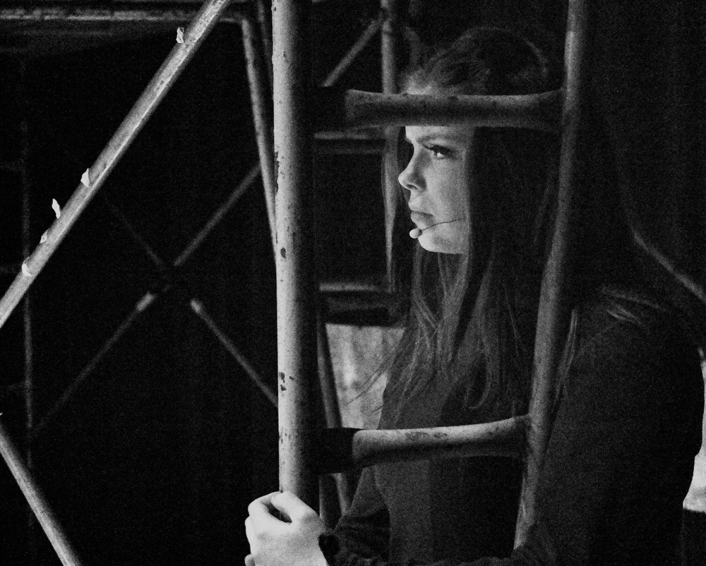 2014-01-21 at 21-15-14 Black & White, Focus, Mimi, Portraits, RENT, Sad, Scaffolding, Thoughtful, Goodbye Love.jpg