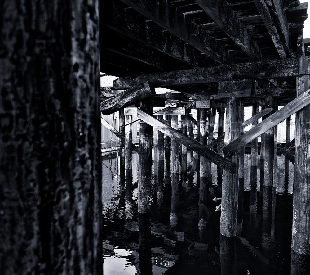 2014-12-25 at 15-32-46 Black & White, Dock, Marina, Ocean, Pier, Post, Urban, Water, Wood.jpg