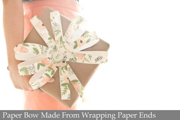 Paper Bow Made From Wrapping Paper Ends.jpg