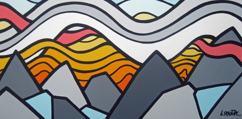 "Title: Rogers Pass, 2012 Size: 18"" x 36"" Acrylic on Canvas SOLD"