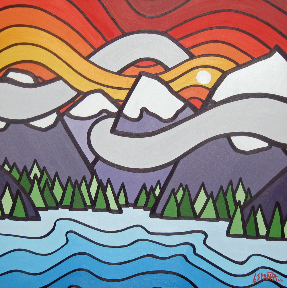 "Title: Mt Fidelity, 2011  Size: 36"" x 36"" Acrylic on Canvas  SOLD"
