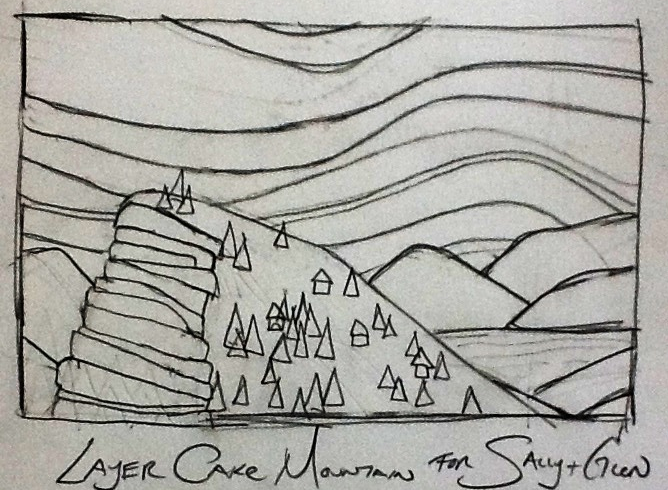 Layer Cake Mountain Sketch