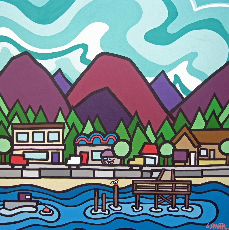 "Title: Davis Bay, 2012  Size: 36"" x 36"" Acrylic on Canvas  SOLD"