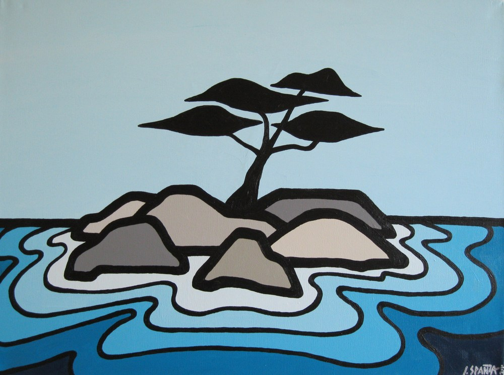 "Title: Arbutus Tree, 2010 Size: 18"" x 24"" Acrylic on Canvas SOLD"