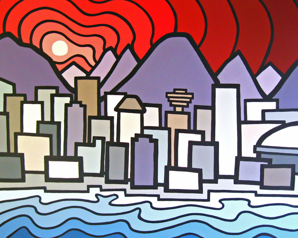 "Title: False Creek, 2011 Size: 36"" x 48"" Acrylic on Canvas SOLD"