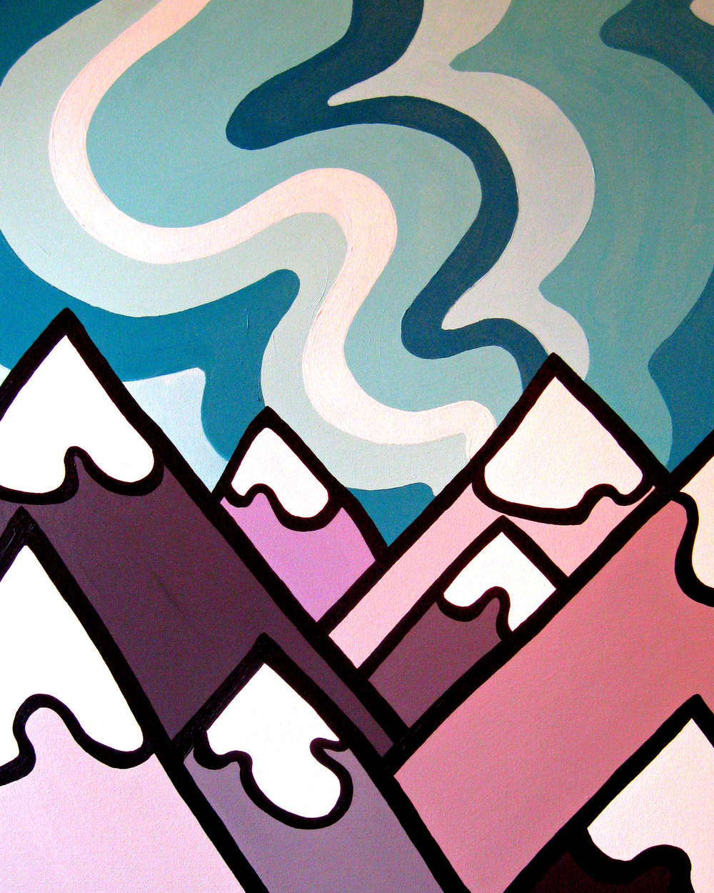 "TItle: The Pass, 2011  Size: 24"" x 20"" Acrylic on Canvas  SOLD"