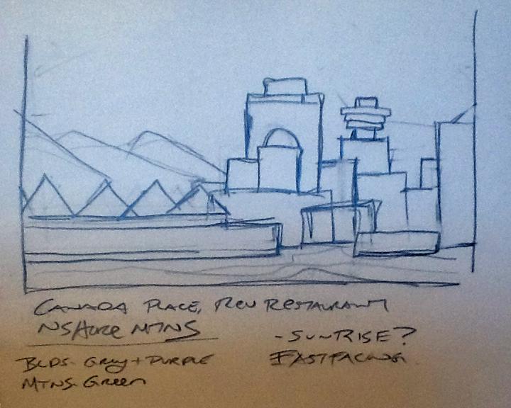 Canada Place Sketch
