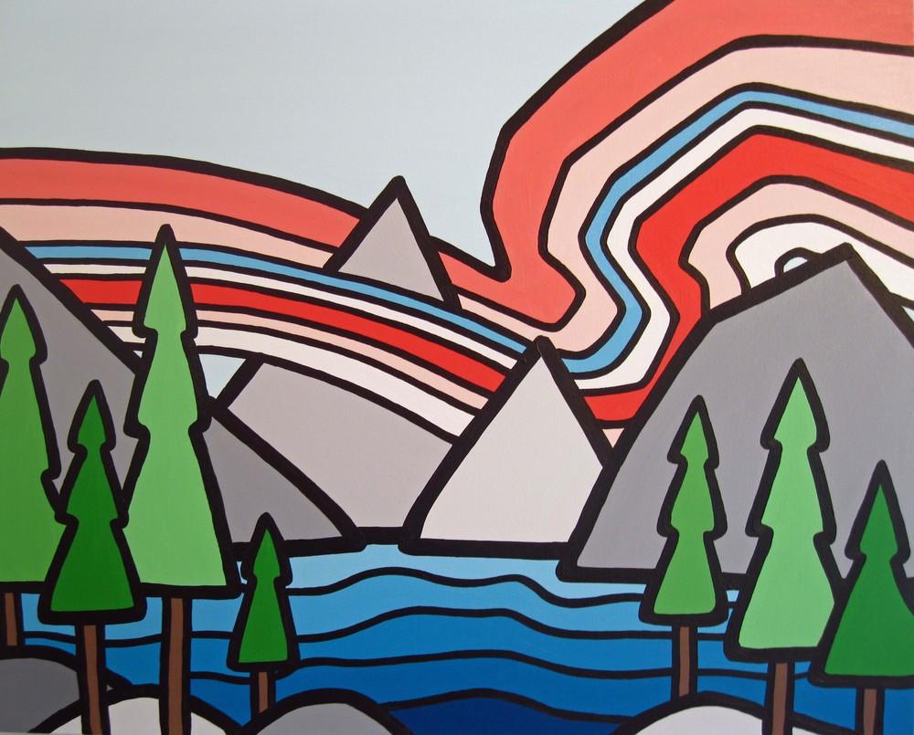 "Rocky Mountain Sunrise. 24"" x 30"" $450"