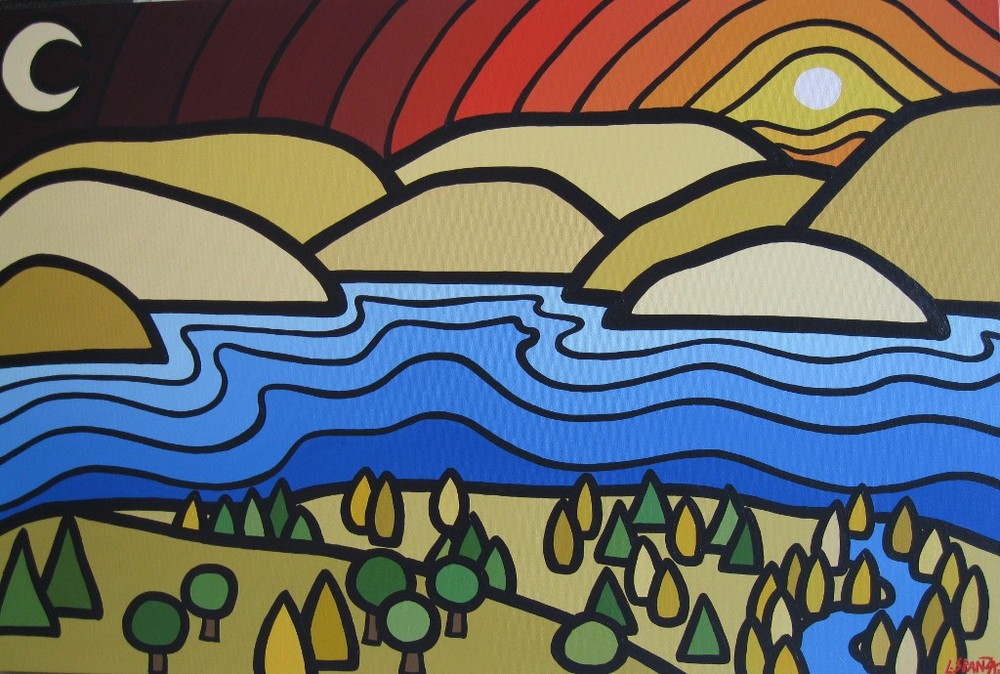 "Title: KLO Lookout, 2011 Size: 24"" x 36"" Acrylic on Canvas COMMISSION - SOLD"