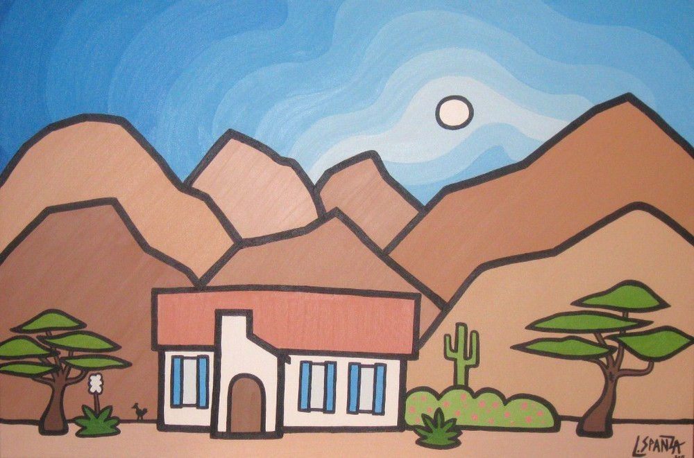 "Title: Palm Springs, 2011 Size: 24"" x 36"" Acrylic on Canvas COMMISSION - SOLD"