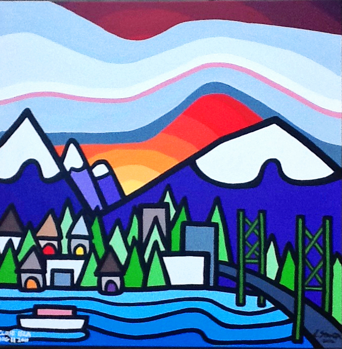 "Title: West Van, 2012 Size: 20"" x 20"" Acrylic on Canvas COMMISSION - SOLD"