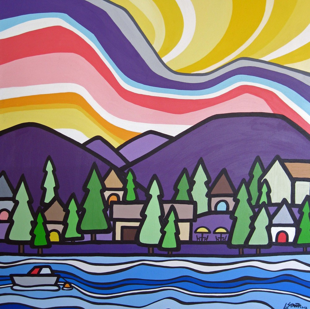 "Title: Okanagan Centre  Size: 36"" x 36"" Acrylic on Canvas  Price: $700"