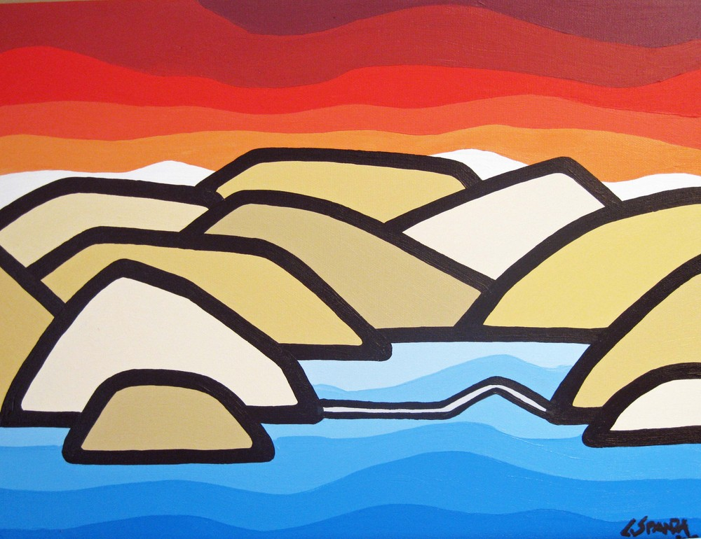 "Title: Okanagan Mt Park, 2012 Size: 11"" x 14"" Acrylic on Canvas COMMISSION - SOLD"