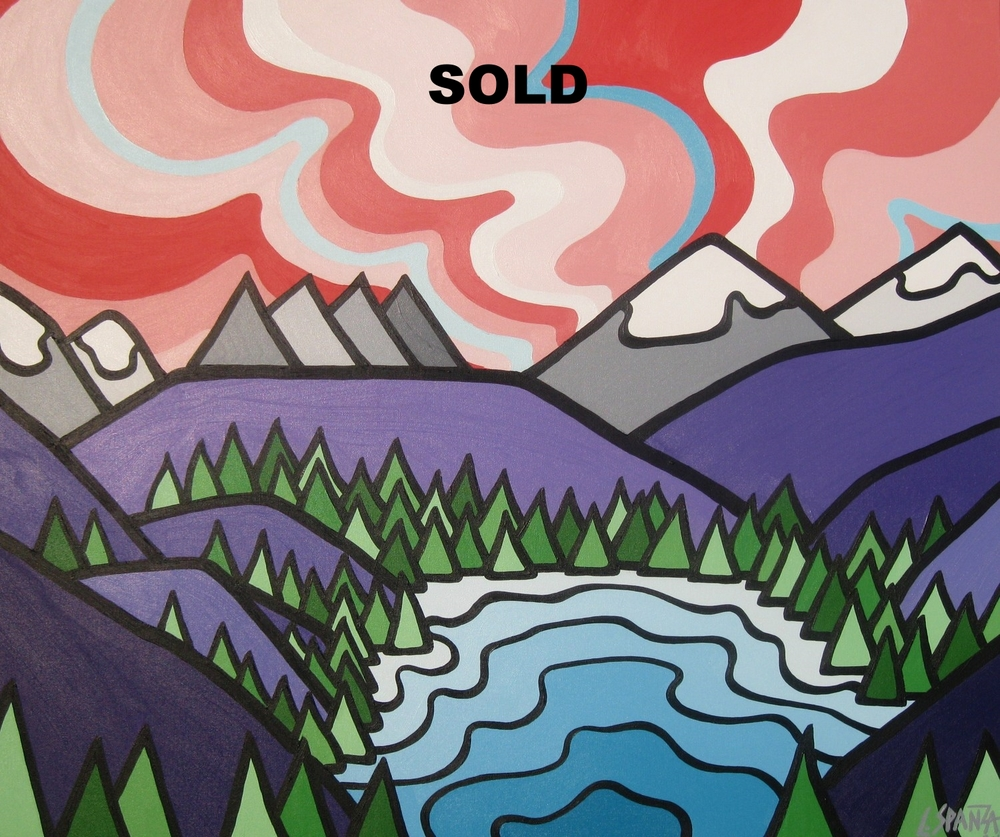 "Title: Wolverine Ridge -  SOLD!!!   Size: 30"" x 36"" Acrylic on Canvas  Price: $600  Price: Please contact me for further information  Click on the image for more on the story on this painting."