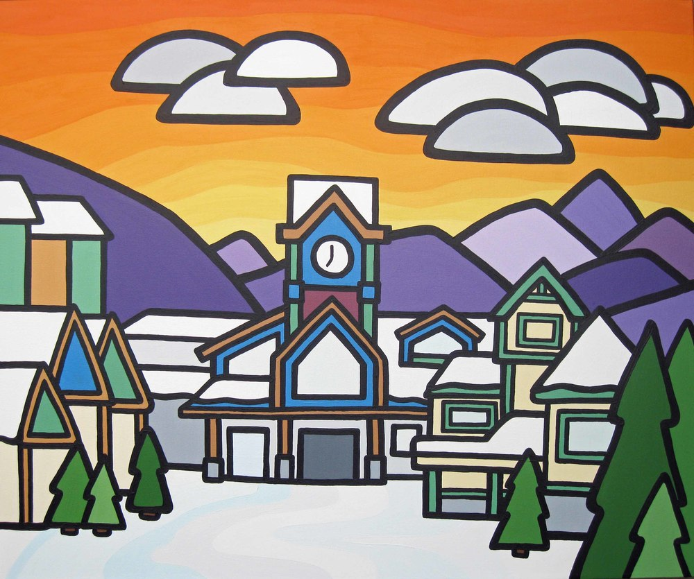 "'Big White Clock Tower' 30""x36"" SOLD"