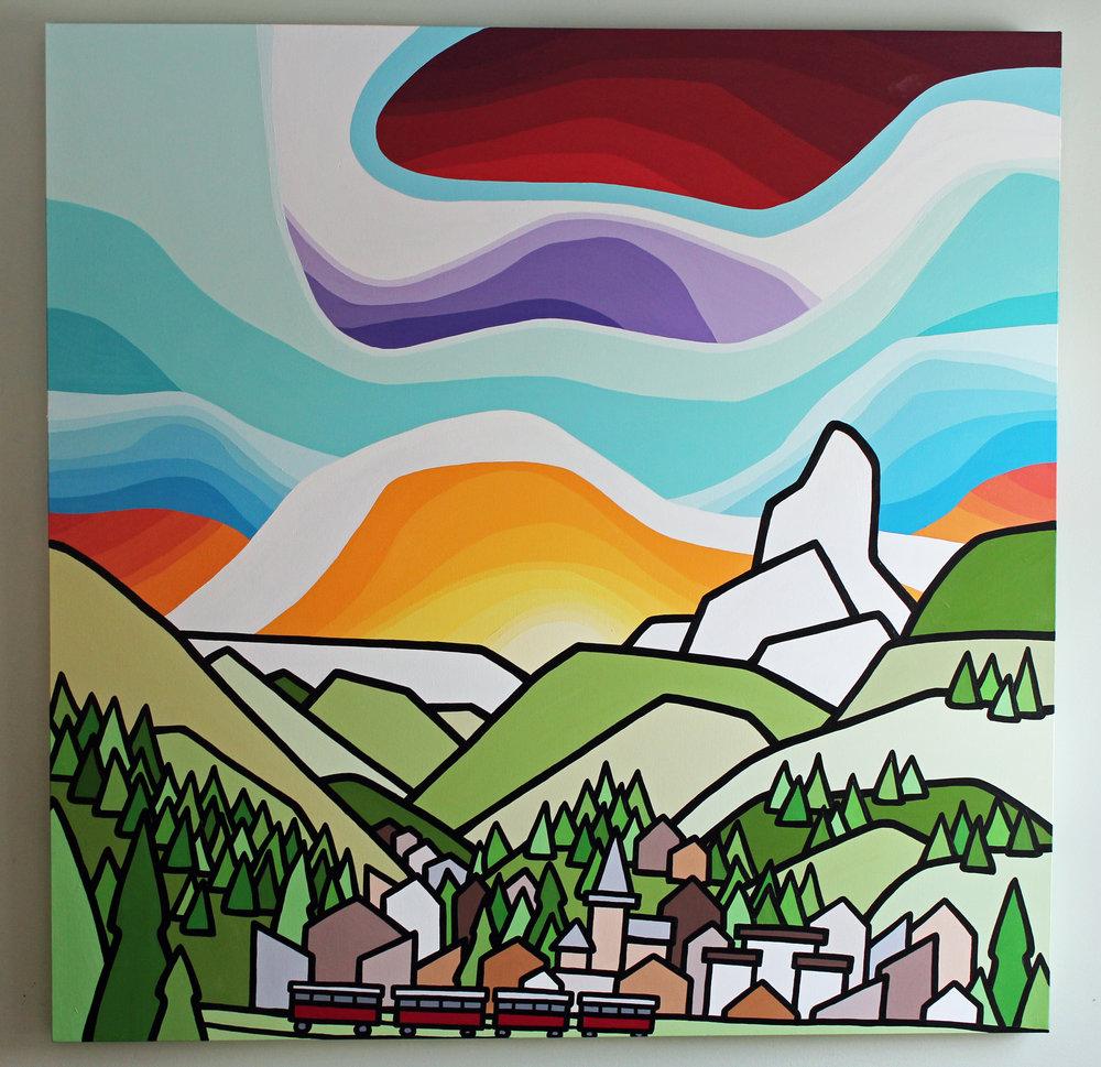 """Matterhorn 48"""" x 48"""" Commission"""