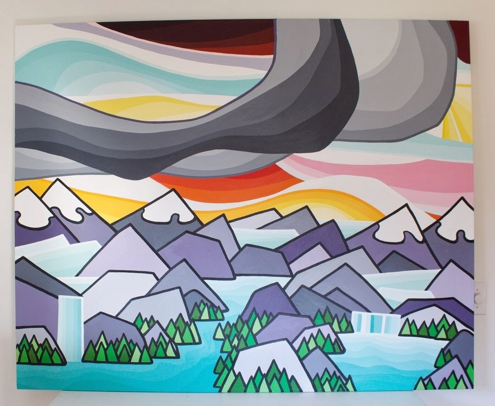 Title: A Love of the Mountains II - Size: 48