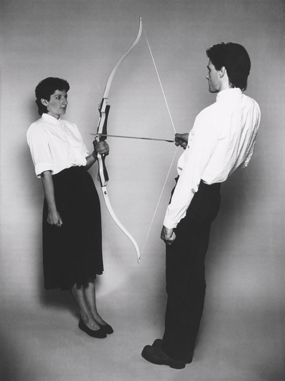 Marina Abramovic,  Rest Energy with Ulay , 1980