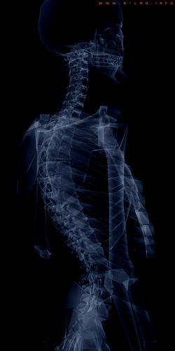 This is an X ray of me, bent over backwards to date #useyourimagination